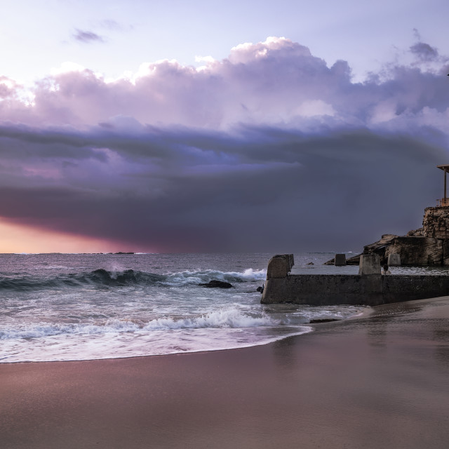 """""""Sunrise at Coogee Beach"""" stock image"""