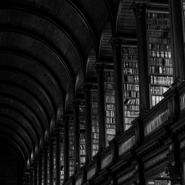 """""""The long Room"""" stock image"""