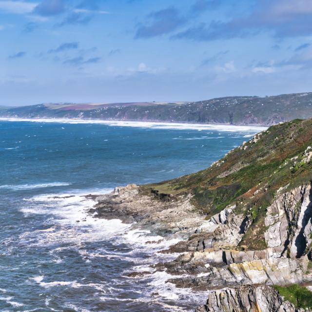 """Rame Head Heritage Coast, Cornwall UK."" stock image"