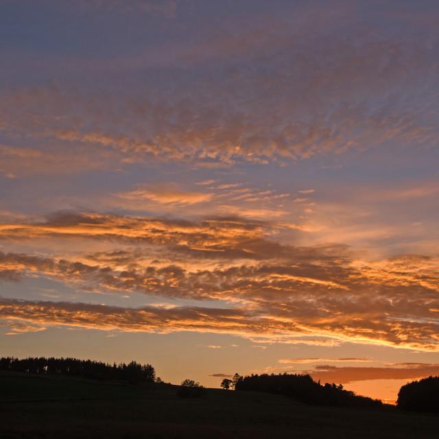 """""""Deeside June Sunset"""" stock image"""