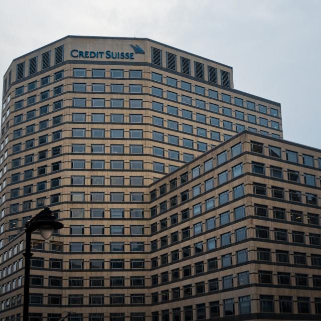 """Credit Suisse Building, 1 Cabot Square, Docklands"" stock image"