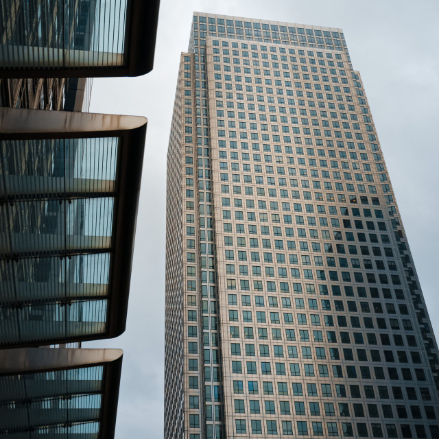 """""""Canary Wharf Tower, Docklands"""" stock image"""