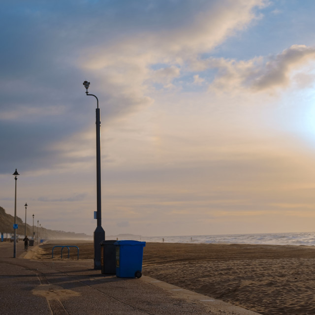 """""""Empty Bournemouth Beach and Seafront"""" stock image"""