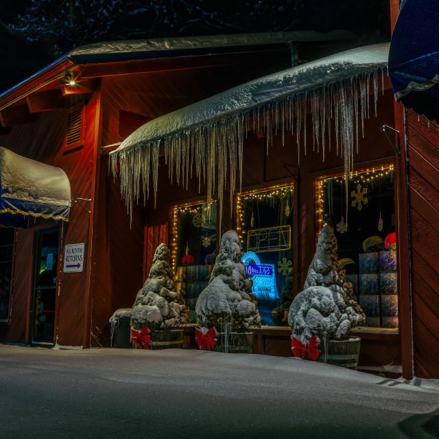 """""""A Winter Scene"""" stock image"""