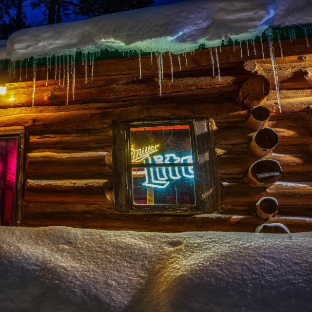 """""""Snow Beer Sign"""" stock image"""
