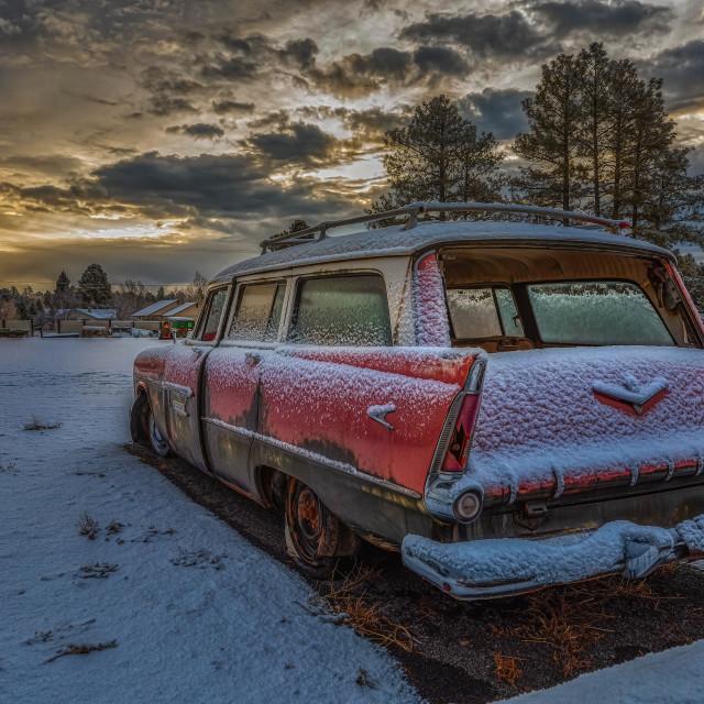 """""""Abandoned Station Wagon"""" stock image"""