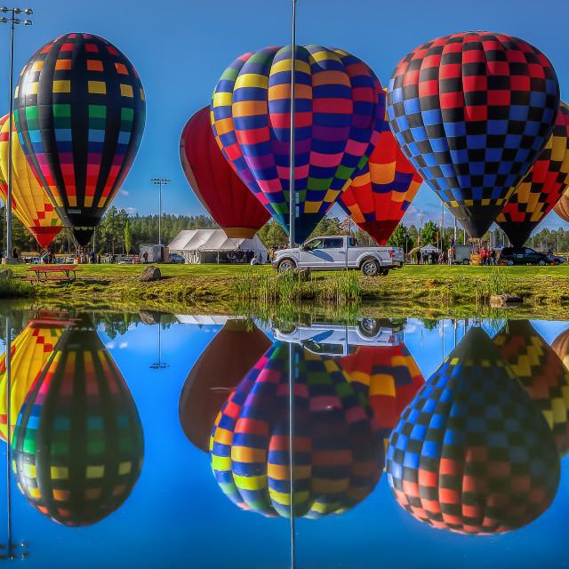 """Balloon Festival"" stock image"