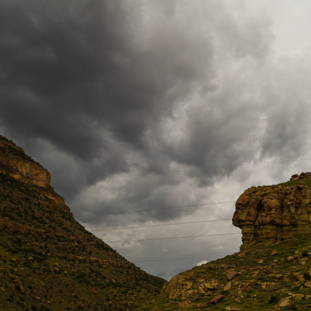 """Cloudy Canyon"" stock image"