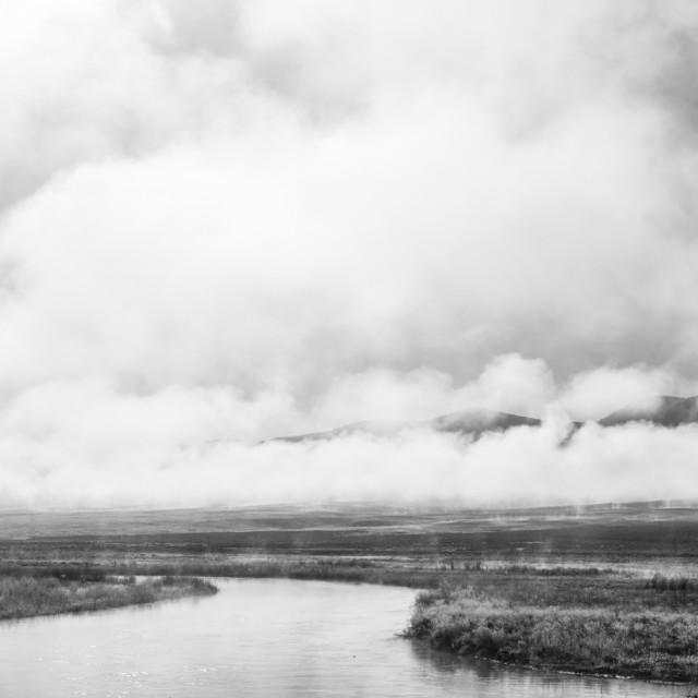 """""""river in black and white"""" stock image"""