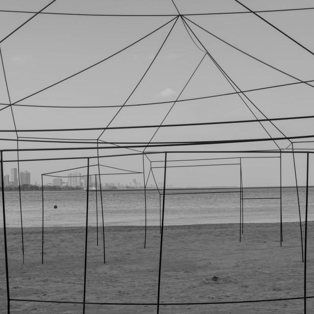 """Beach Lines"" stock image"