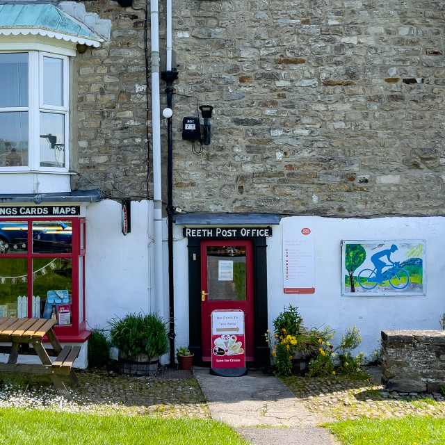 """""""Reeth Post Office, Swaledale, North Yorkshire."""" stock image"""