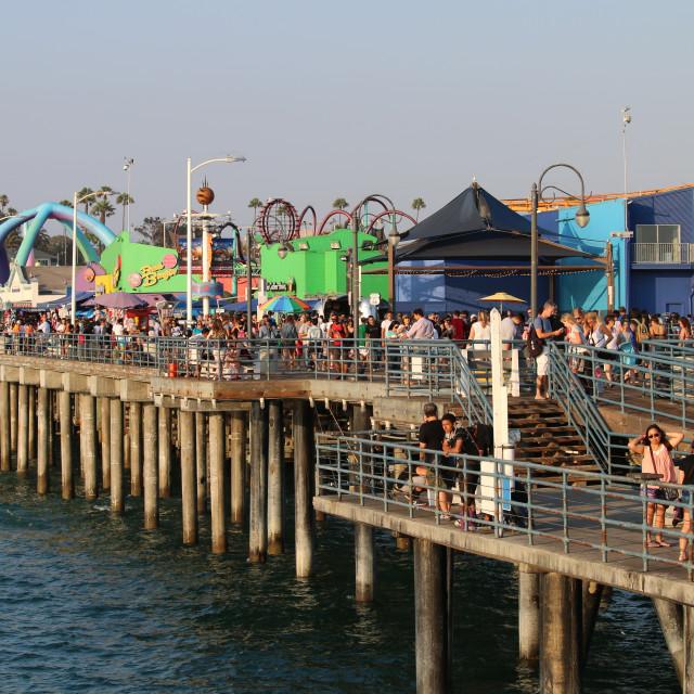 """Santa Monica Pier at Sunset"" stock image"