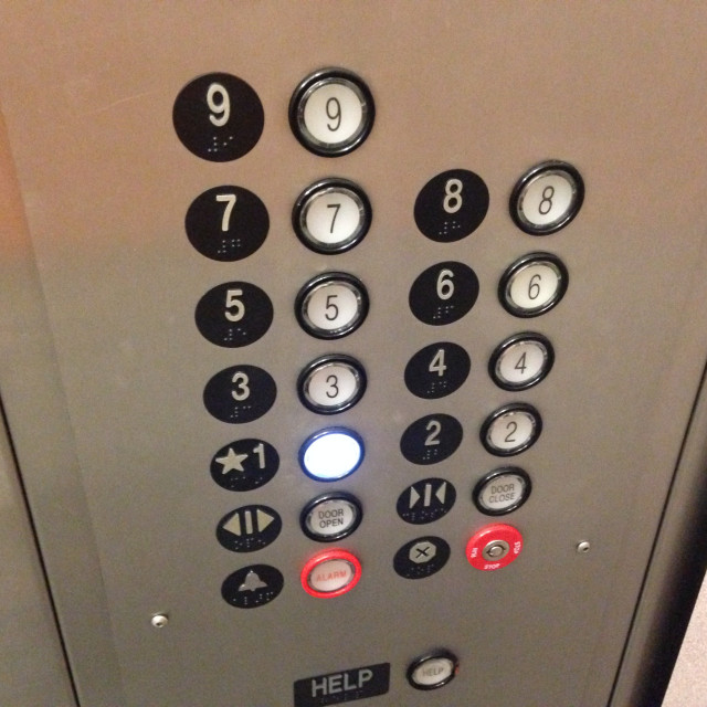 """Elevator Panel"" stock image"