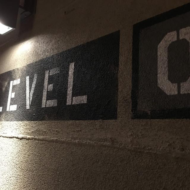 """Level Zero Sign"" stock image"
