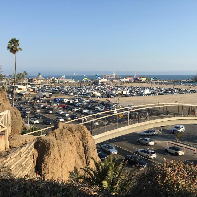 """Santa Monica Pier and Public Parking"" stock image"