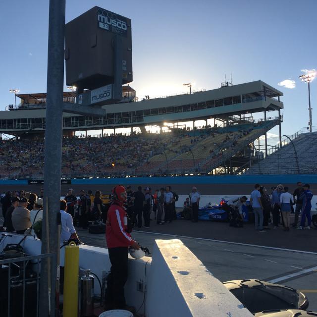 """Race Stadium Crowd"" stock image"