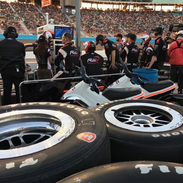 """""""Race Team Pit Area"""" stock image"""