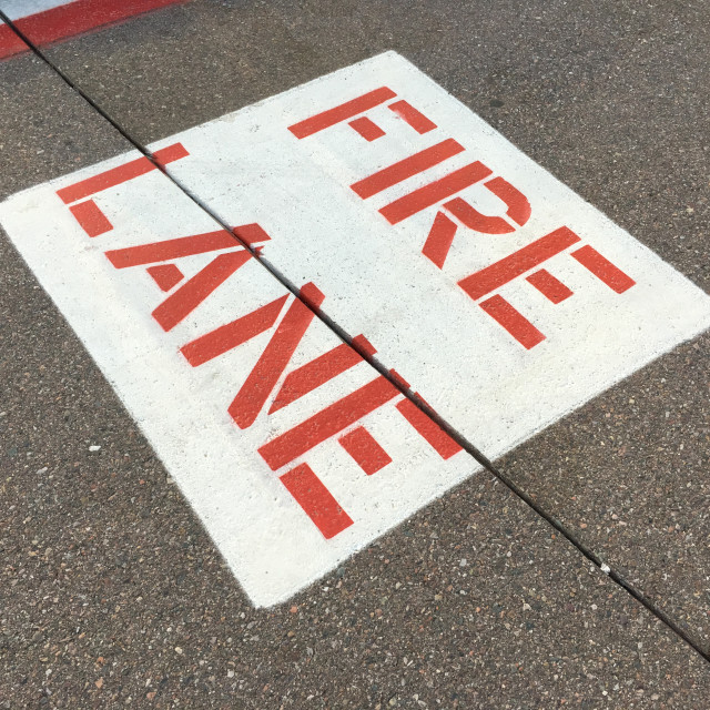 """""""Fire Lane Sign"""" stock image"""