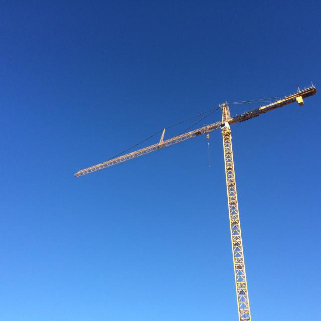 """Construction Crane"" stock image"