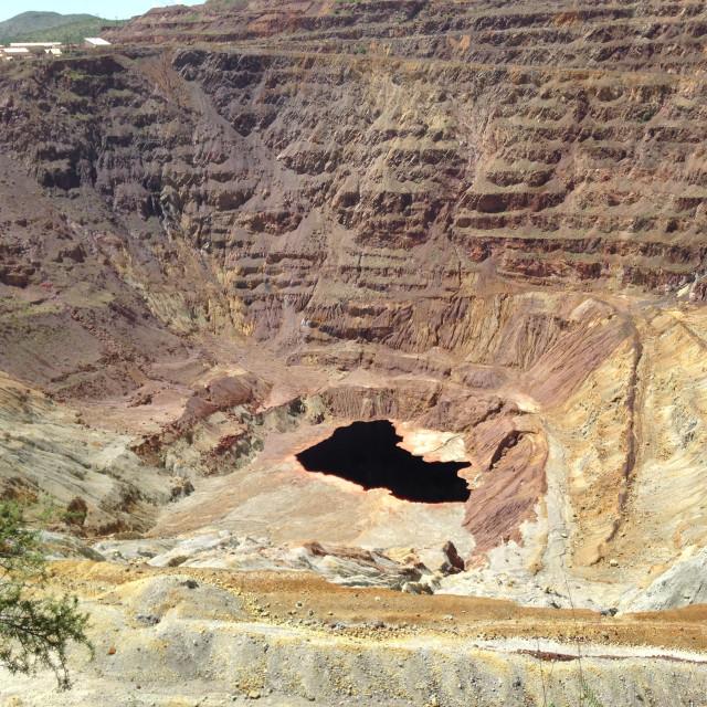 """""""Copper Pit Mine"""" stock image"""