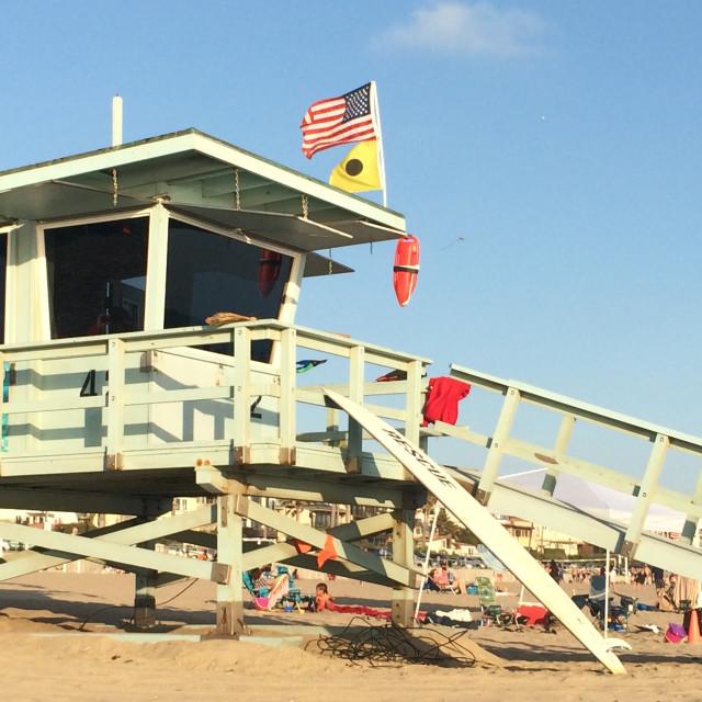 """Manhattan Beach Lifeguard Station"" stock image"