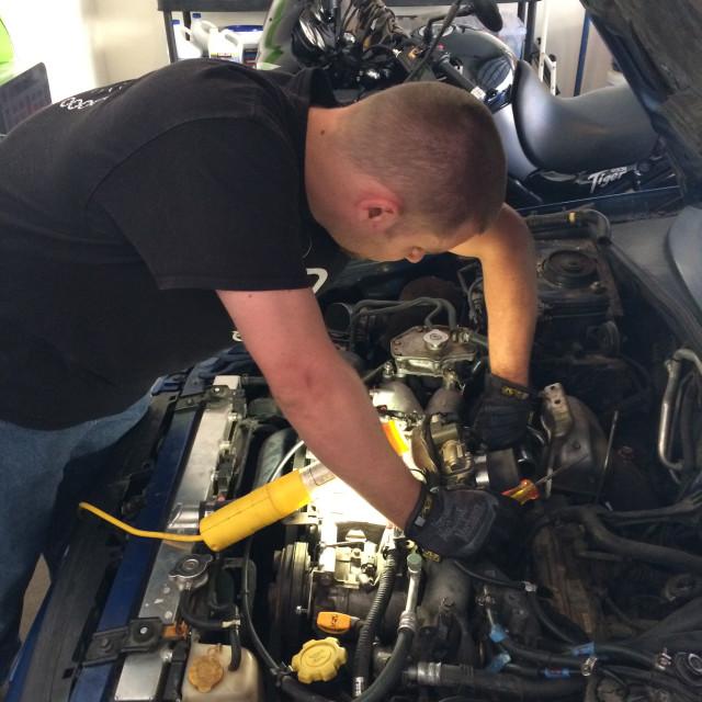 """Mechanic Fixing Car"" stock image"