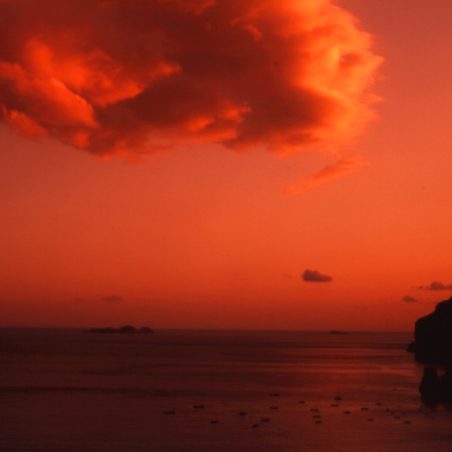 """Sunset on Positano"" stock image"