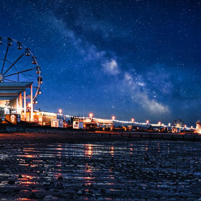 """Milky Way from Hunstanton Beach, UK."" stock image"