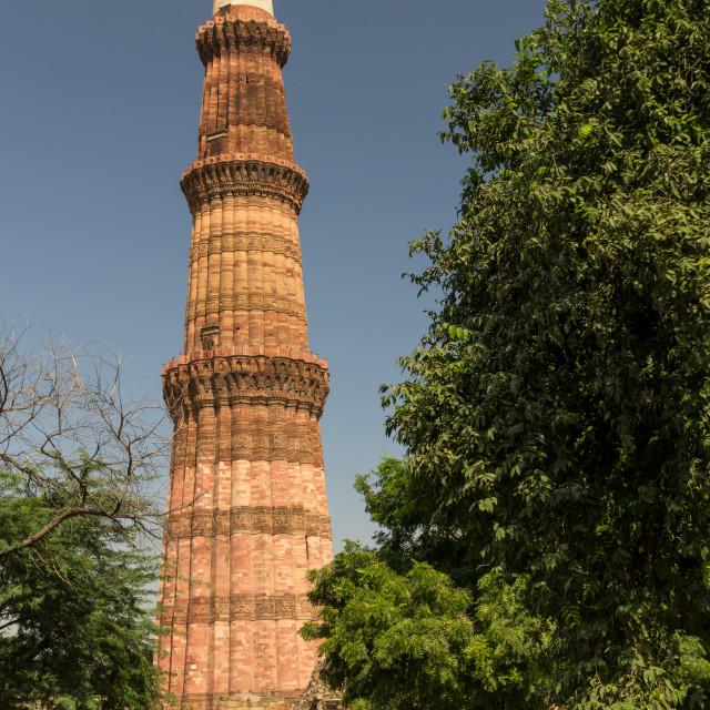 """""""Qutb Minar - a World Heritage Site site in Delhi"""" stock image"""
