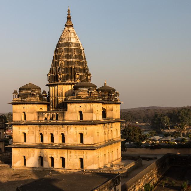 """A chhatria in Orchha. Madhya Pradesh, India"" stock image"
