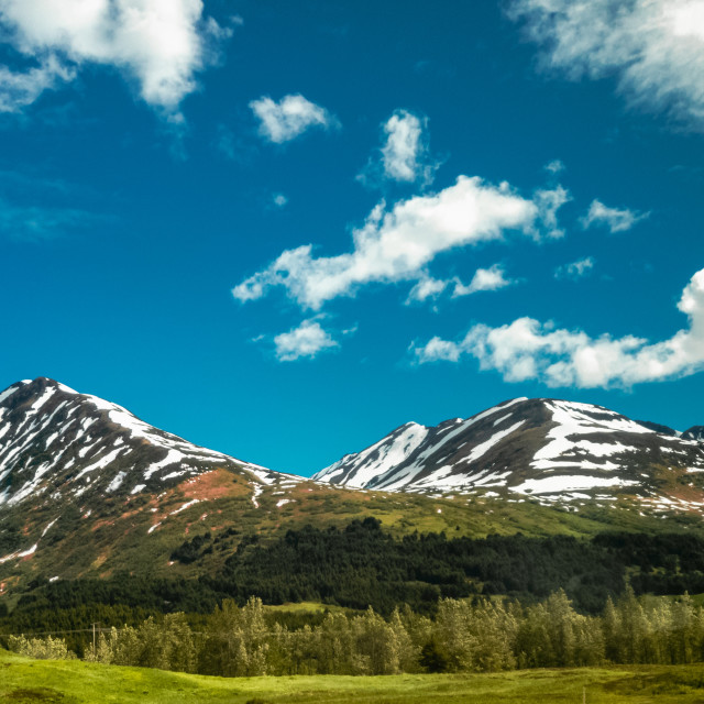 """""""Snowcapped summer"""" stock image"""