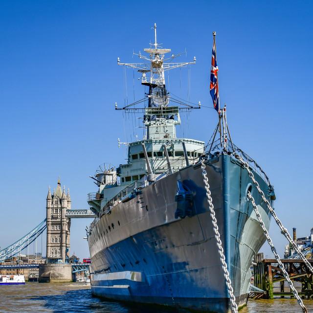 """HMS Belfast"" stock image"