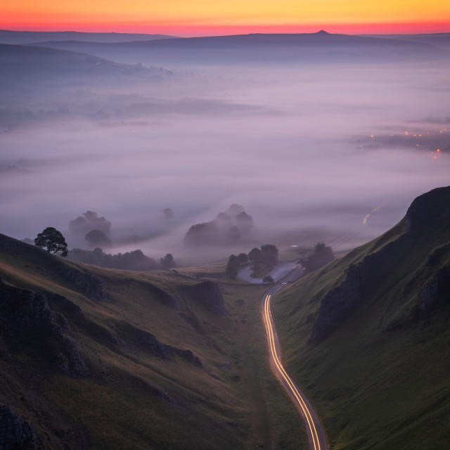 """""""Into The Mists"""" stock image"""
