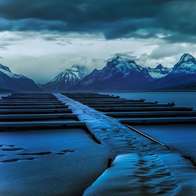 """""""A Grand Glacier"""" stock image"""