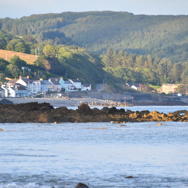 """""""A view of Amroth"""" stock image"""