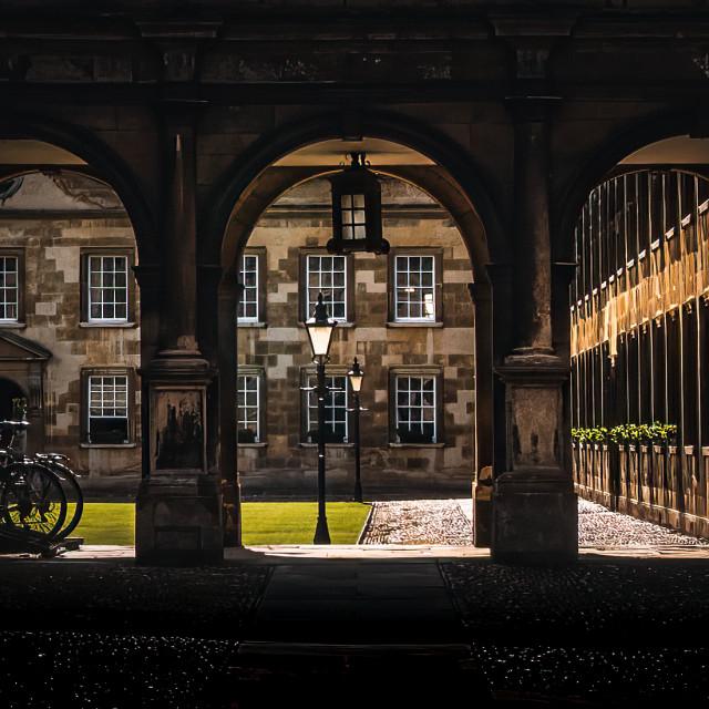 """""""Courtyard of Peterhouse College, University of Cambridge UK."""" stock image"""
