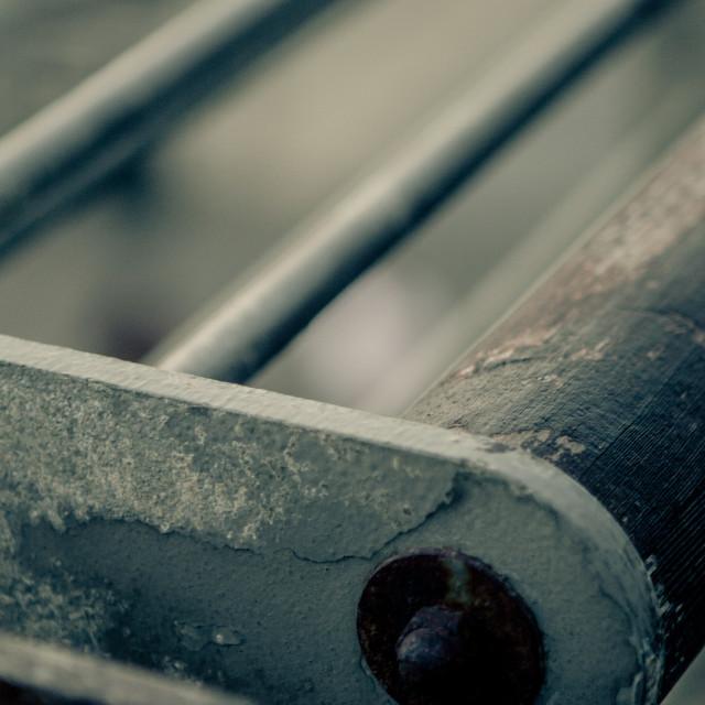 """Metal and Wood"" stock image"
