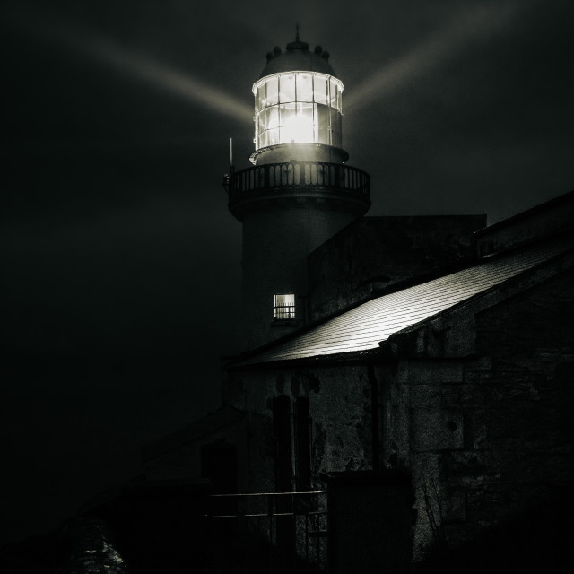 """""""Wicklow Lighthouse"""" stock image"""