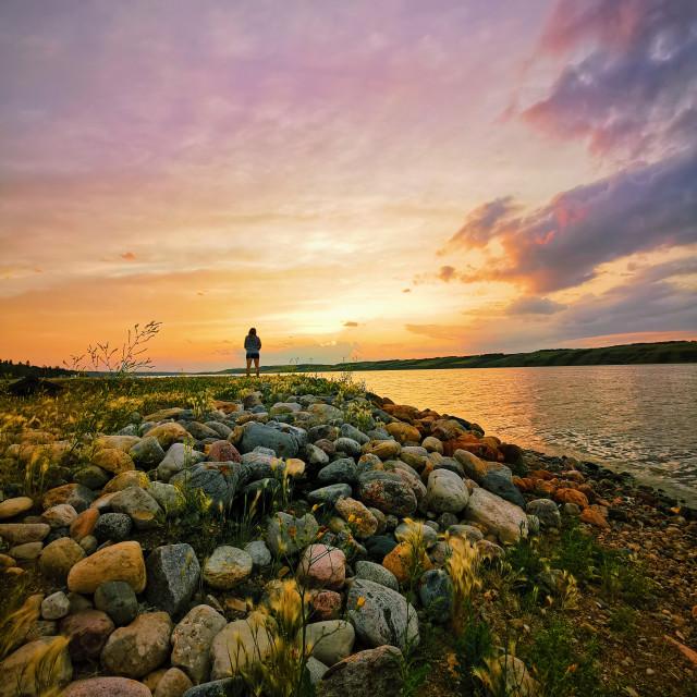 """""""Thoughtful Sunset"""" stock image"""