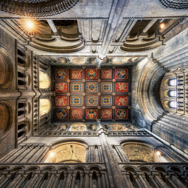 """""""Ely Cathedral South West Transept, Ely UK."""" stock image"""