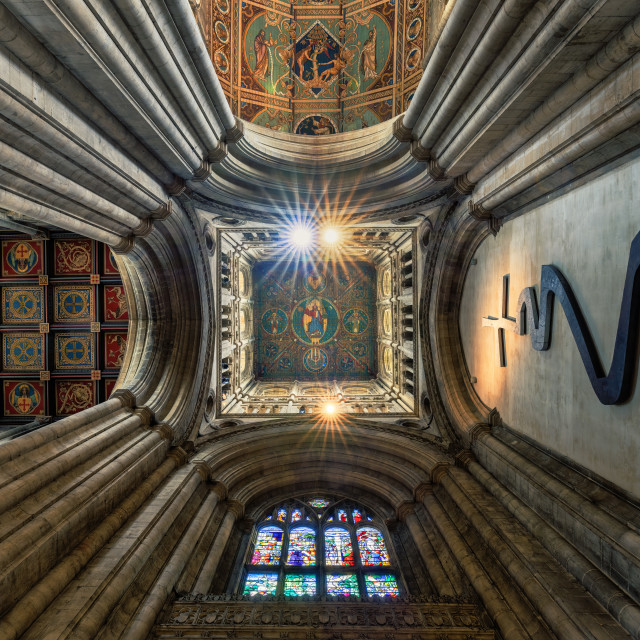 """""""Ely Cathedral, West Tower, Ely UK."""" stock image"""