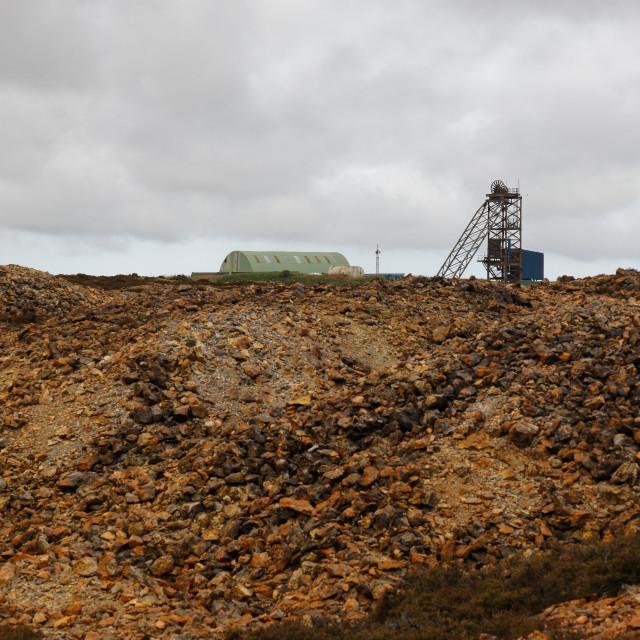 """Parys Mountain Copper Mine Buildings"" stock image"