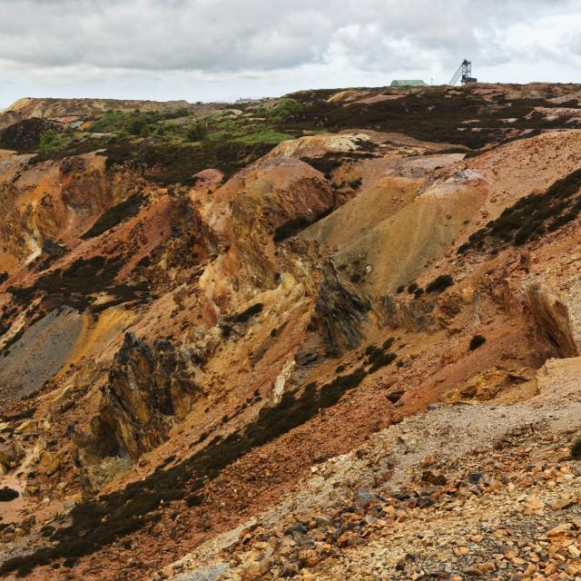 """""""Parys Mountain Copper Mine (portrait)"""" stock image"""