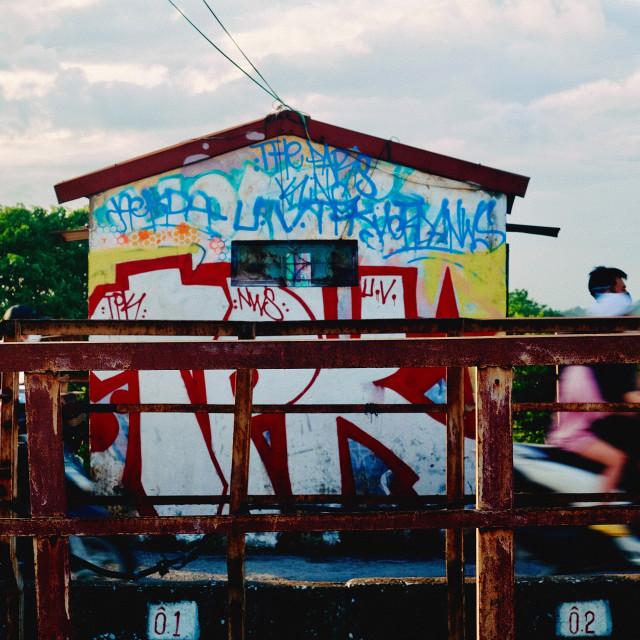 """Long Biên bridge"" stock image"