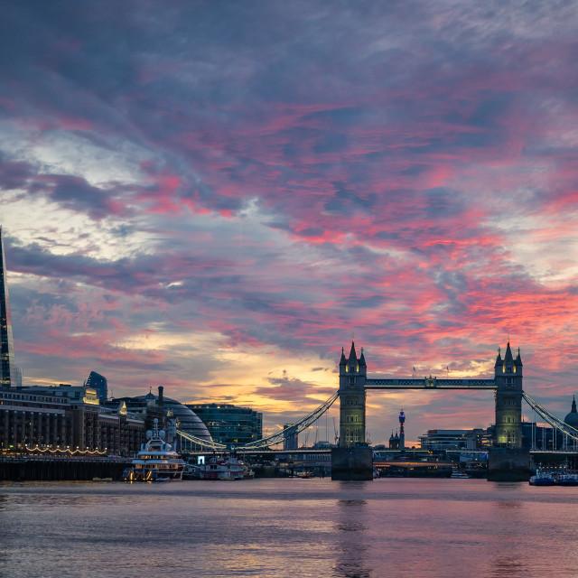 """London Sunset"" stock image"