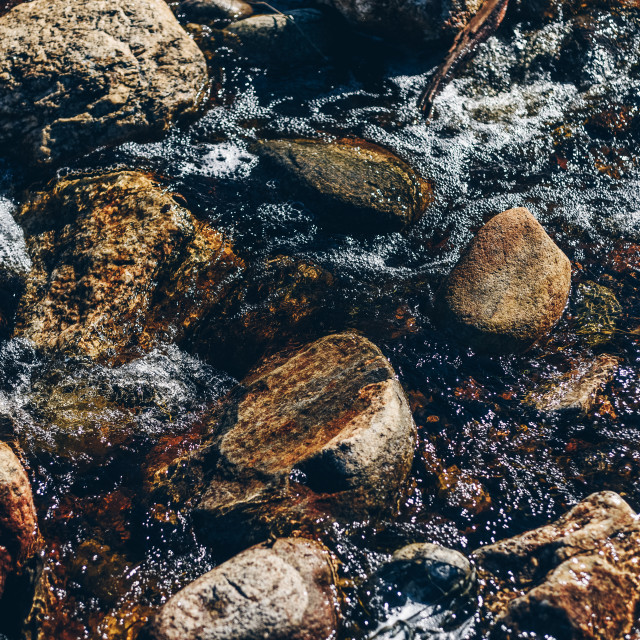 """""""Water and Rocks"""" stock image"""