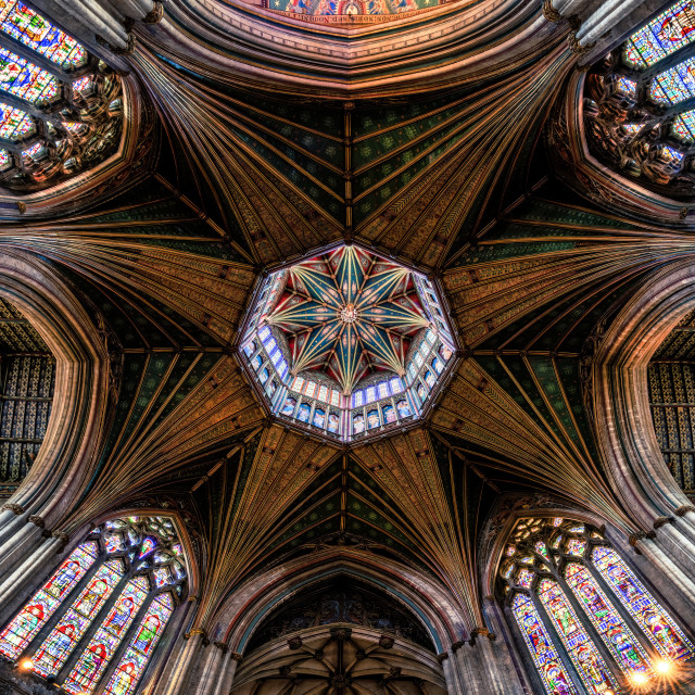 """""""The Octagon Tower, Ely Cathedral, Ely UK."""" stock image"""