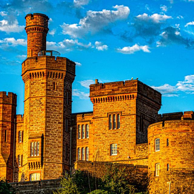 """Inverness Castle, Summer Sunset"" stock image"