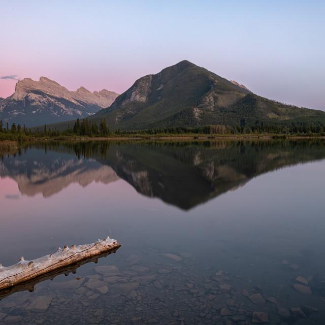 """Vermillion Lakes Sunset"" stock image"