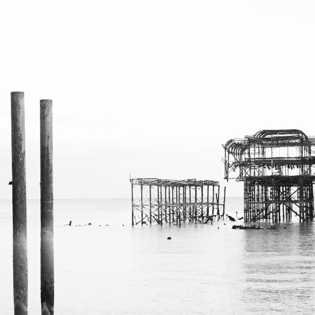 """""""The West Pier"""" stock image"""